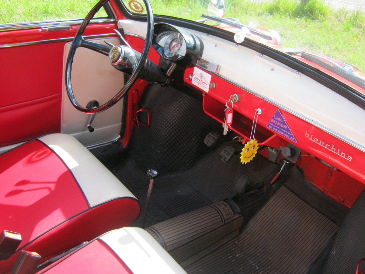1958 AUTOBIANCHI BIANCHINA TRASFORMABILE 'S'. SUICIDE DOORS For Sale (picture 5 of 6)