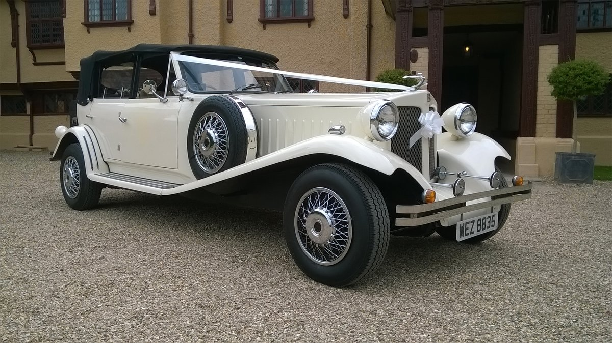 1980 4 Door Ivory Beauford Convertible Wedding Car SOLD (picture 1 of 6)