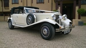 1980 4 Door Ivory Beauford Convertible Wedding Car