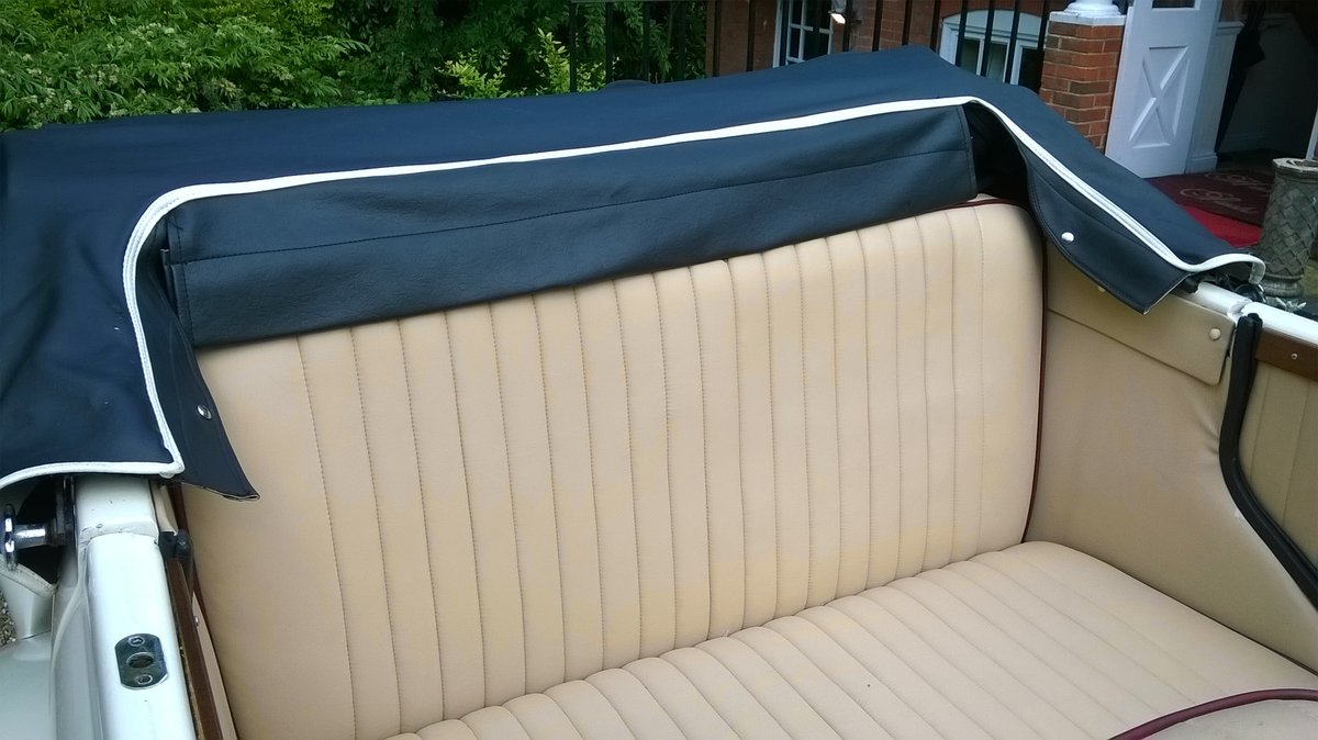 1980 4 Door Ivory Beauford Convertible Wedding Car SOLD (picture 3 of 6)