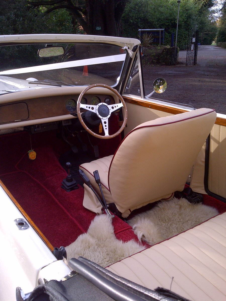 1980 4 Door Ivory Beauford Convertible Wedding Car SOLD (picture 4 of 6)