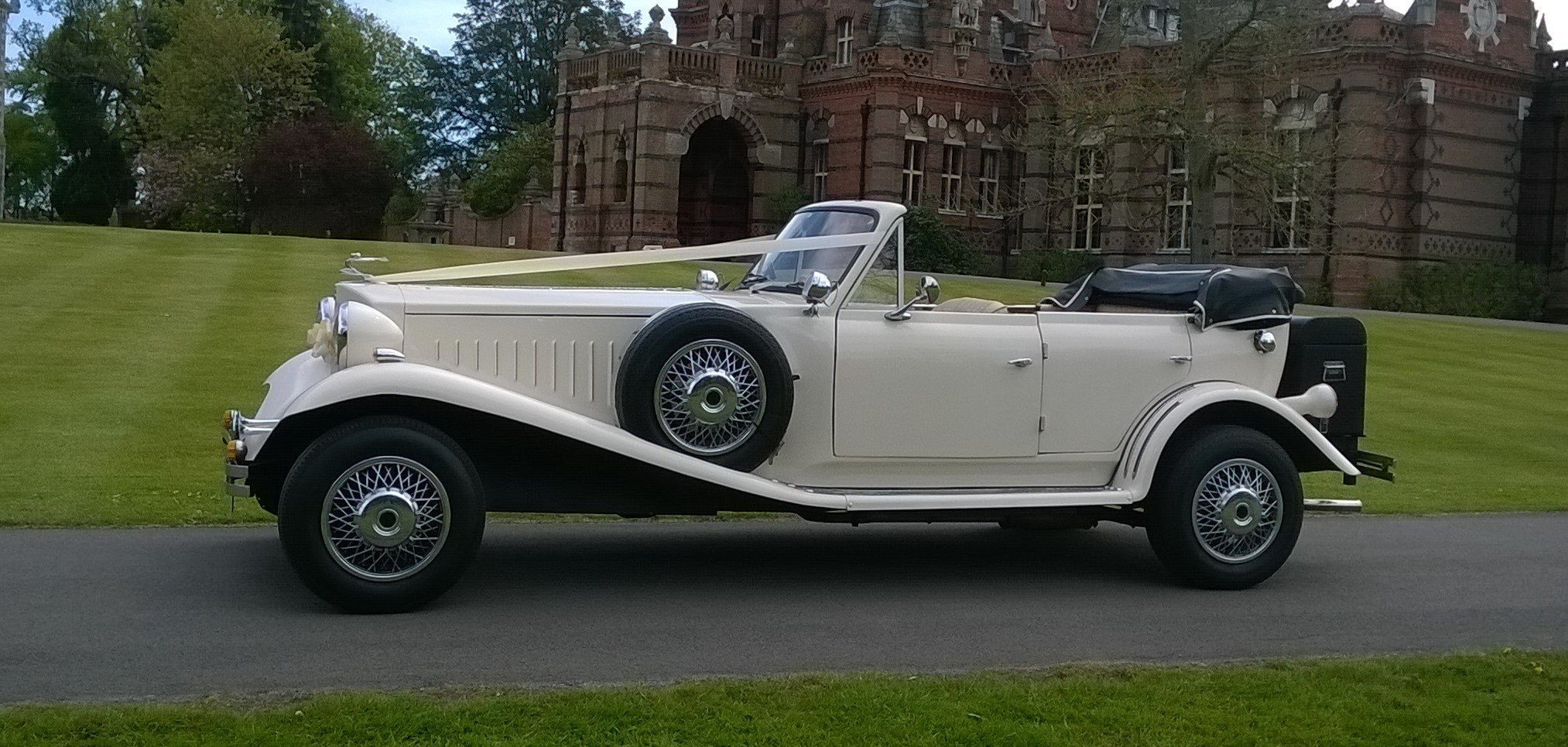 1980 4 Door Ivory Beauford Convertible Wedding Car SOLD (picture 5 of 6)
