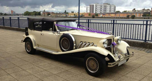 White 1930s Beaufords for hire in London For Hire (picture 1 of 6)