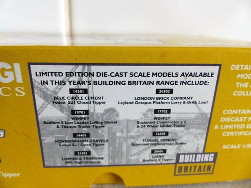 """BEDFORD """"S"""" TIPPER-LAING BUILDING BRITAIN-1:50 For Sale (picture 2 of 6)"""