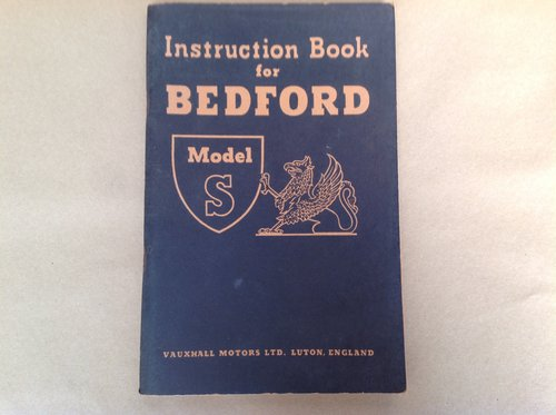 Bedford Model S Instruction book For Sale (picture 1 of 2)