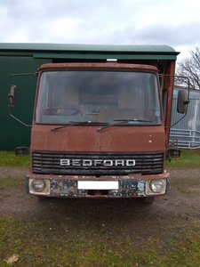1983 Bedford TL750 with drop side body
