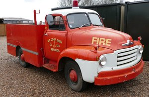 1955 Bedford TA fire tender, 3,519 cc. For Sale by Auction