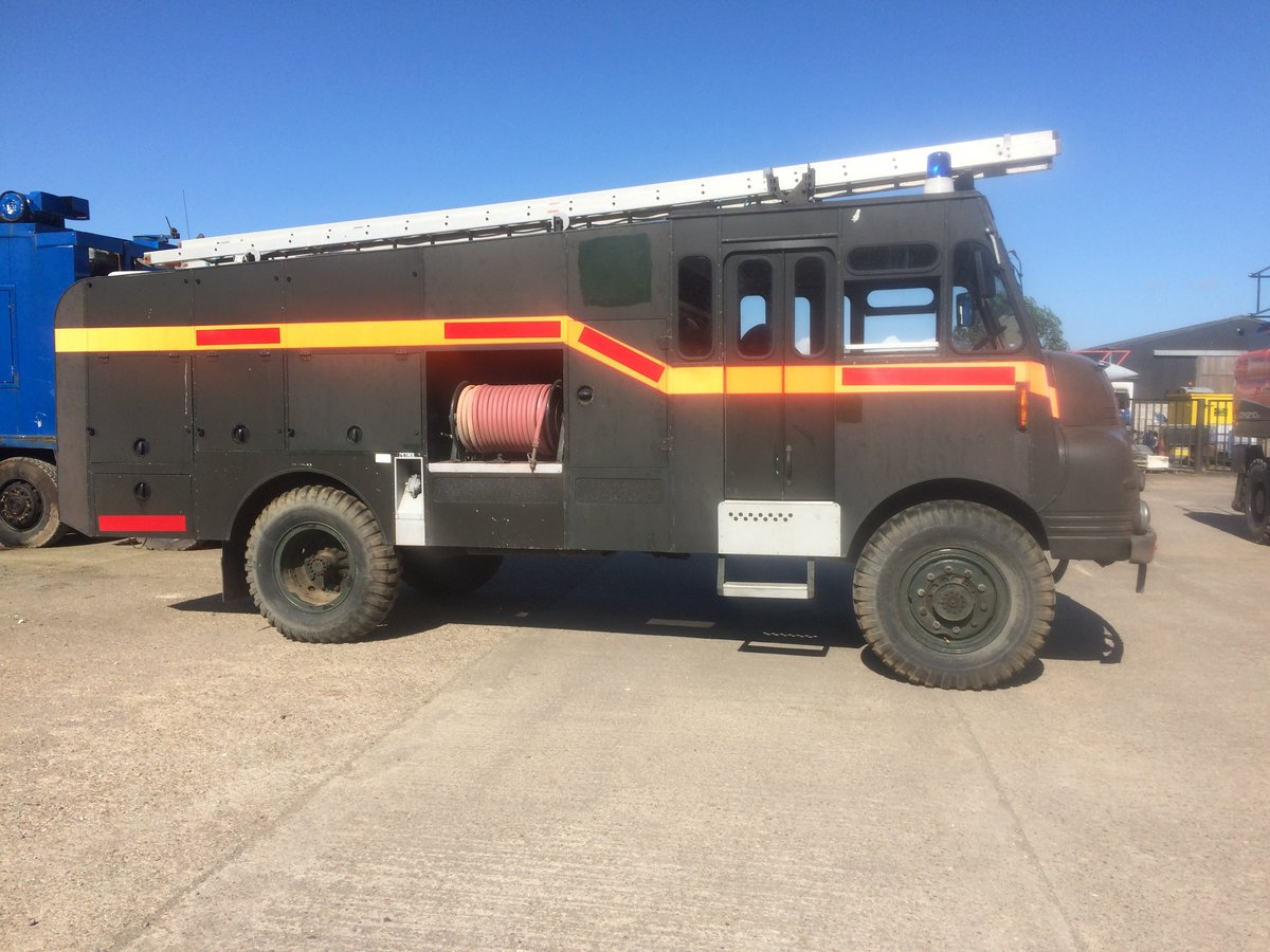 1956 Bedford Green Goddess Fire Engine EX MOD For Sale (picture 1 of 6)