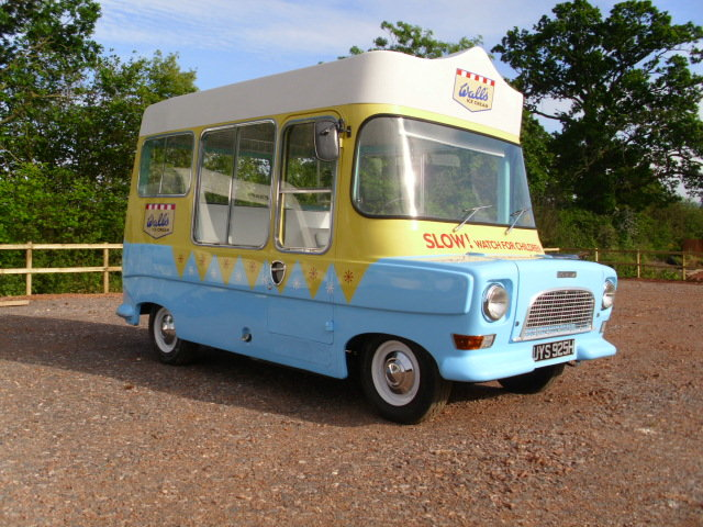 1969 bedford ca electro-freeze ice cream van For Sale (picture 1 of 6)