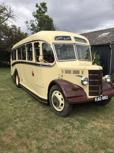 Picture of 1950 Bedford ob coach