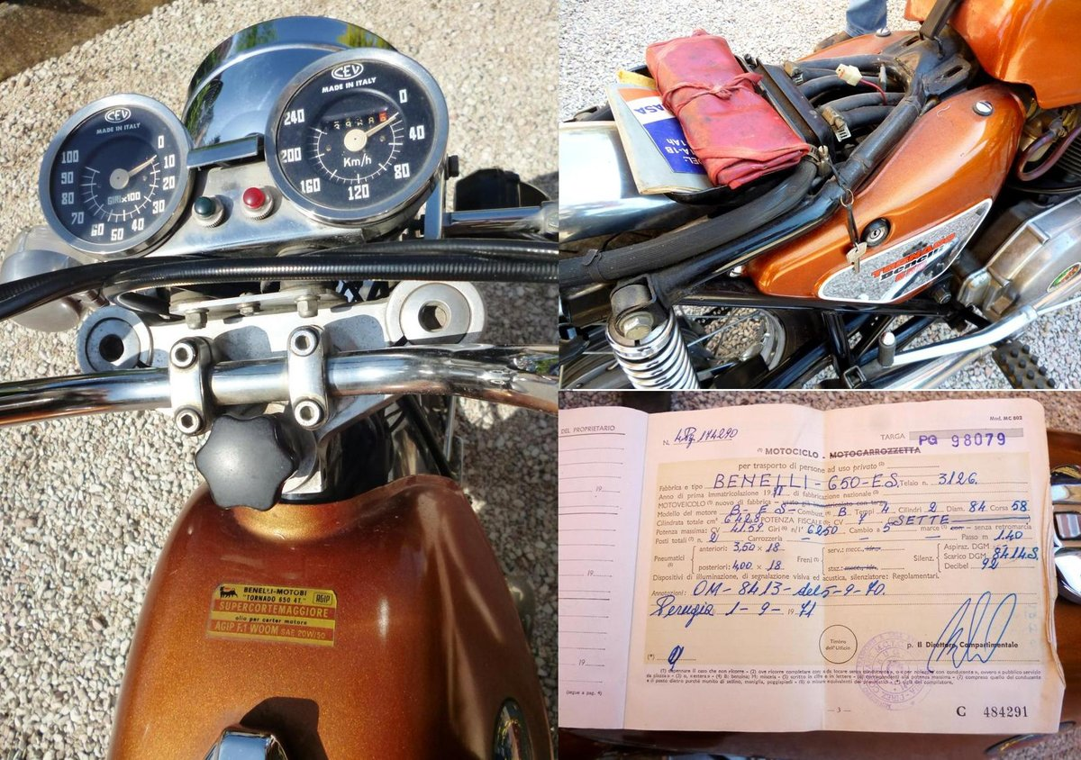 1971 Benelli 650 Tornado ES For Sale (picture 4 of 6)