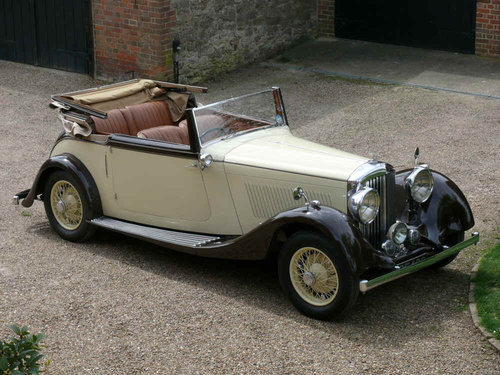 1934 3 ½ litre Derby Bentley Convertible by Park Ward  For Sale (picture 1 of 6)