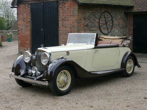 1934 3 ½ litre Derby Bentley Convertible by Park Ward  For Sale (picture 2 of 6)