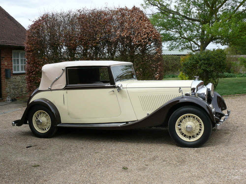 1934 3 ½ litre Derby Bentley Convertible by Park Ward  For Sale (picture 4 of 6)