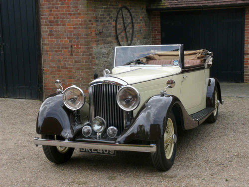 1934 3 ½ litre Derby Bentley Convertible by Park Ward  For Sale (picture 5 of 6)