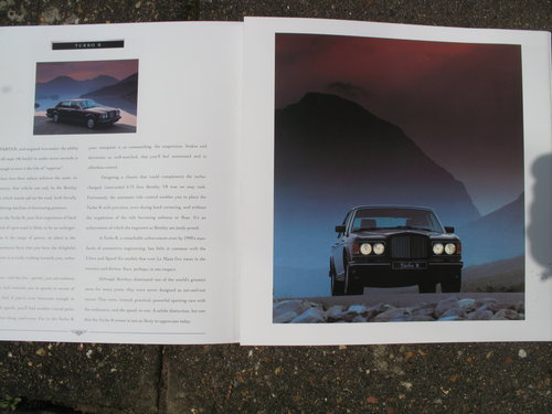 An Original Bentley sales Brochure for the above SOLD (picture 1 of 3)