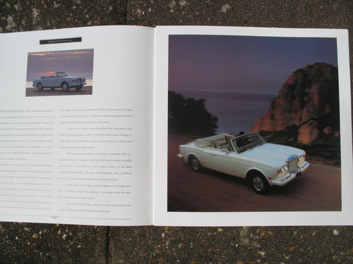An Original Bentley sales Brochure for the above SOLD (picture 2 of 3)