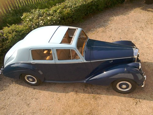 1954 Bentley R type automatic in two tone blue SOLD (picture 1 of 6)