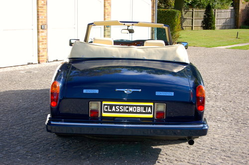 1989 Bentley Continental Convertible SOLD (picture 3 of 6)