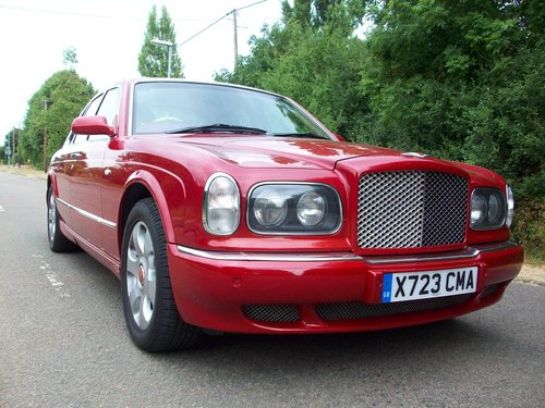 2000  (X Reg) BENTLEY ARNAGE RED LABEL SOLD (picture 1 of 6)