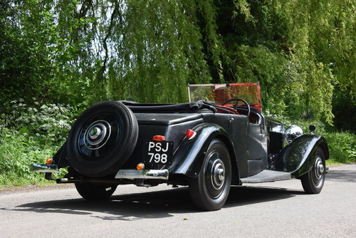 1934 BENTLEY 3 1/2 litre  Derby 3 Position DHC / Convertible For Sale (picture 2 of 2)