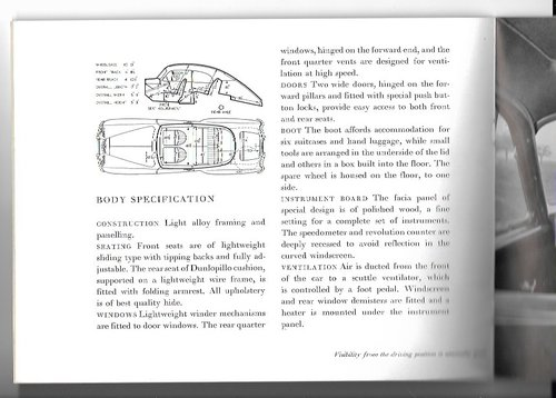 1951 Original sale brochure for BENTLEY Continental R For Sale (picture 5 of 6)