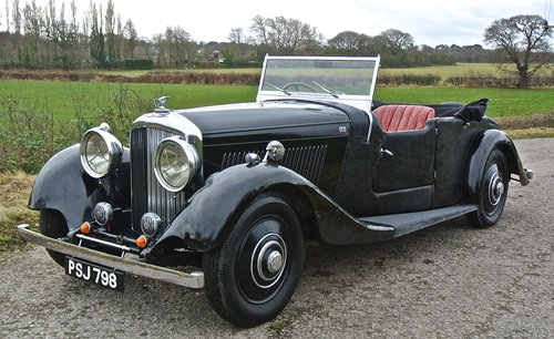 1934 BENTLEY 3 1/2 litre  Derby 3 Position DHC / Convertible For Sale (picture 1 of 6)