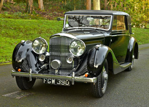 1938 Bentley 4 1/4  litre Overdrive James Young Sedanca Coup For Sale