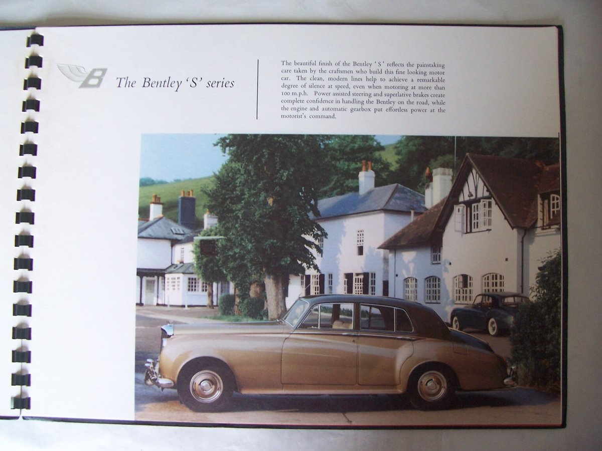 1960 BENTLEY 'S' 2 SALES BROCHURE For Sale (picture 2 of 5)