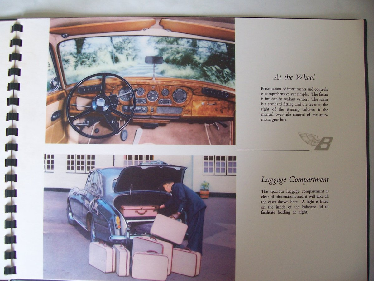 1960 BENTLEY 'S' 2 SALES BROCHURE For Sale (picture 3 of 5)