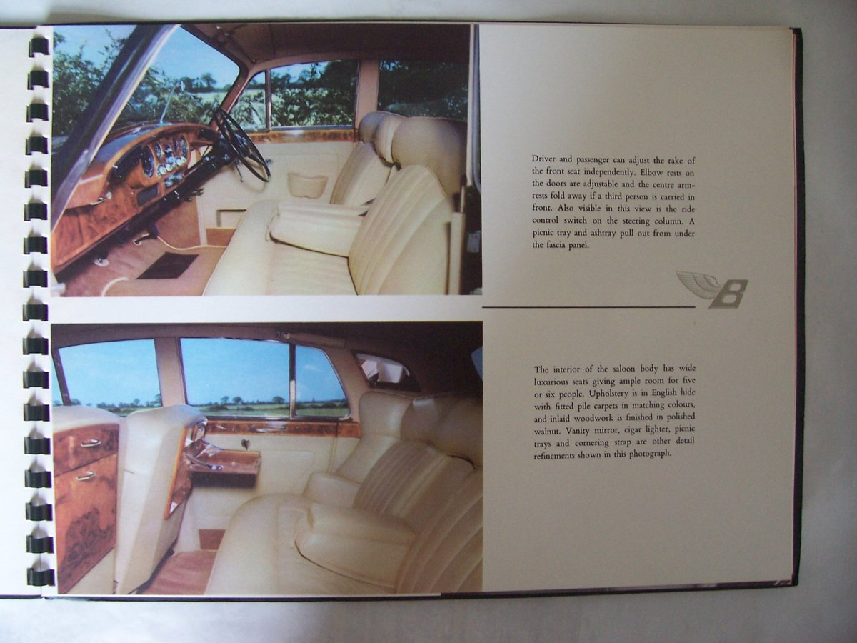 1960 BENTLEY 'S' 2 SALES BROCHURE For Sale (picture 5 of 5)