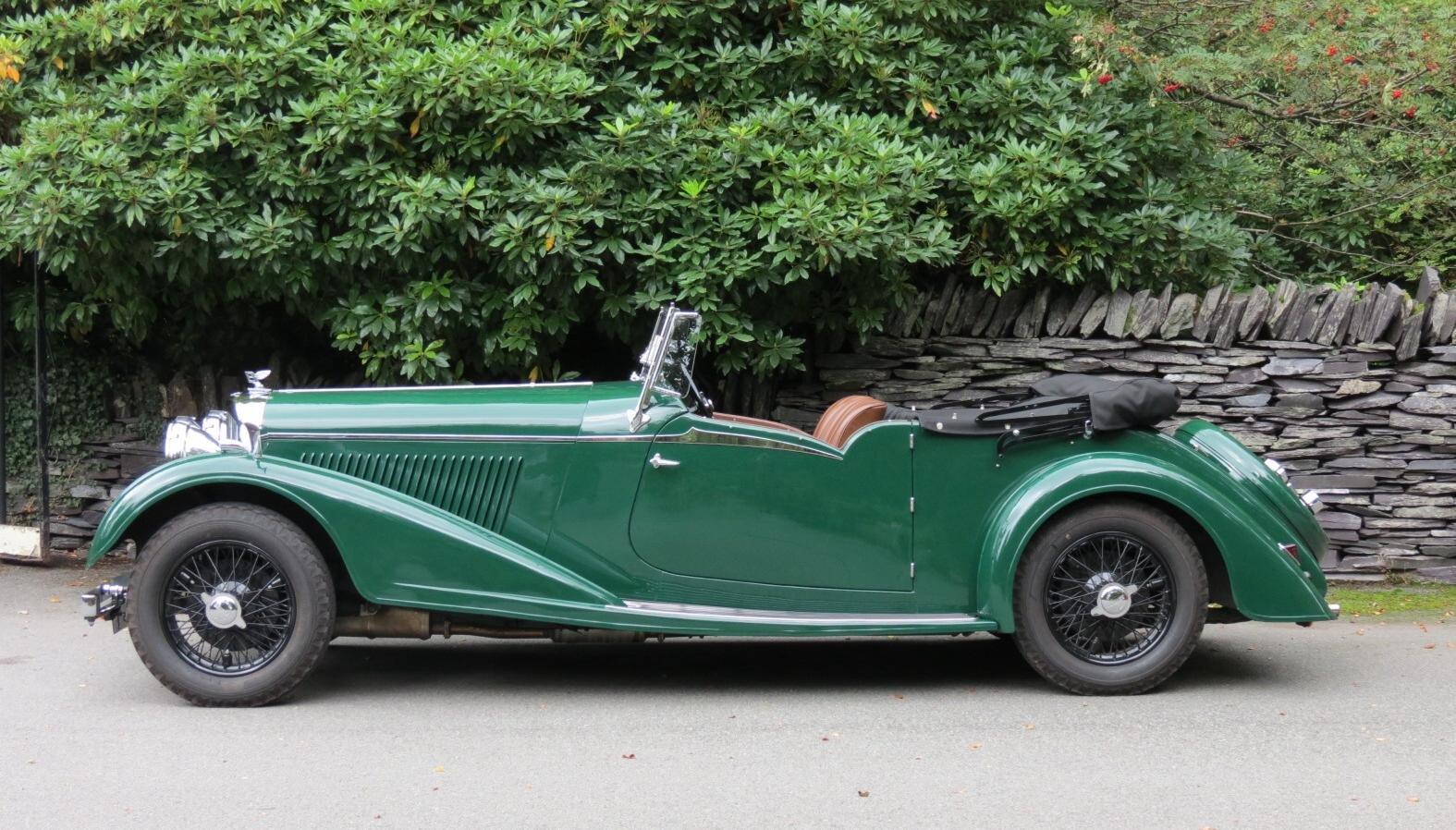 """1936 Bentley 4 ¼ Vanden Plas Style """"Cut Away"""" Tourer B1GP For Sale (picture 1 of 6)"""