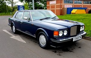 Bentley Turbo R 1986 service history For Sale