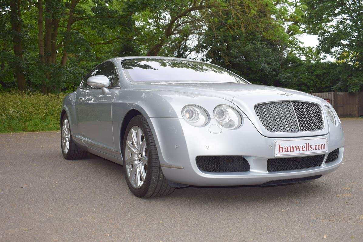 2004/54 Bentley Continental GT in Moonbeam Silver For Sale (picture 1 of 6)