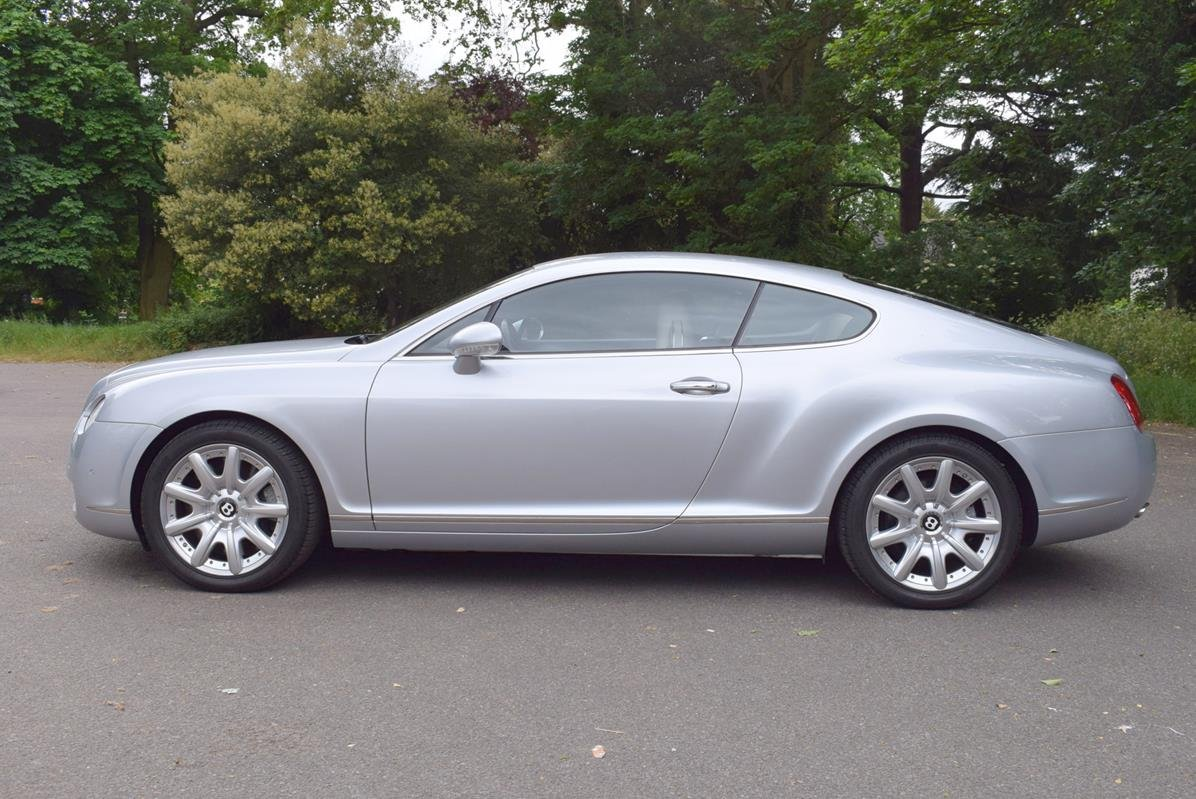 2004/54 Bentley Continental GT in Moonbeam Silver For Sale (picture 4 of 6)