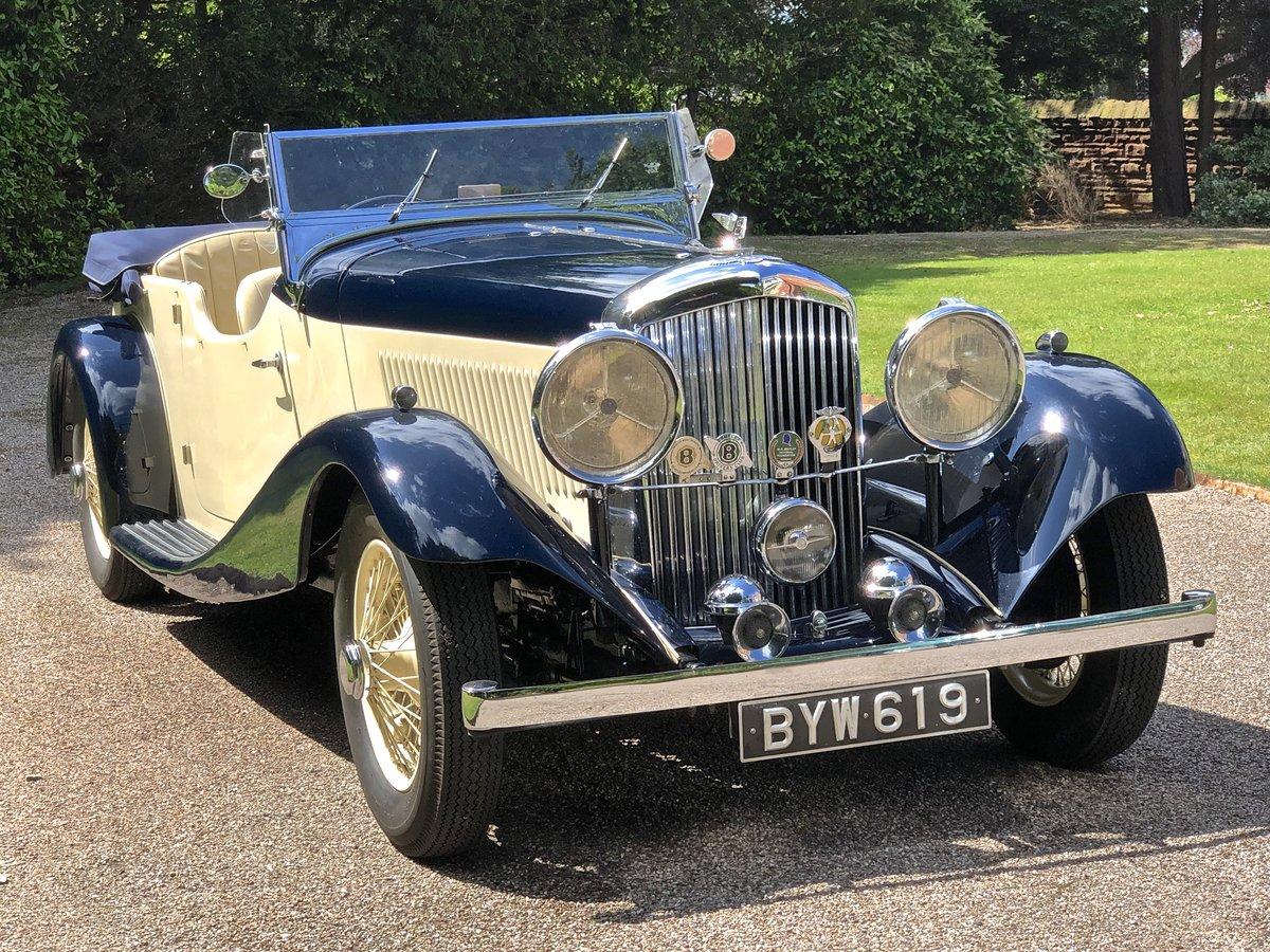 1935 BENTLEY 3 1/2 Litre Vanden Plas 4 seat tourer For Sale (picture 1 of 6)
