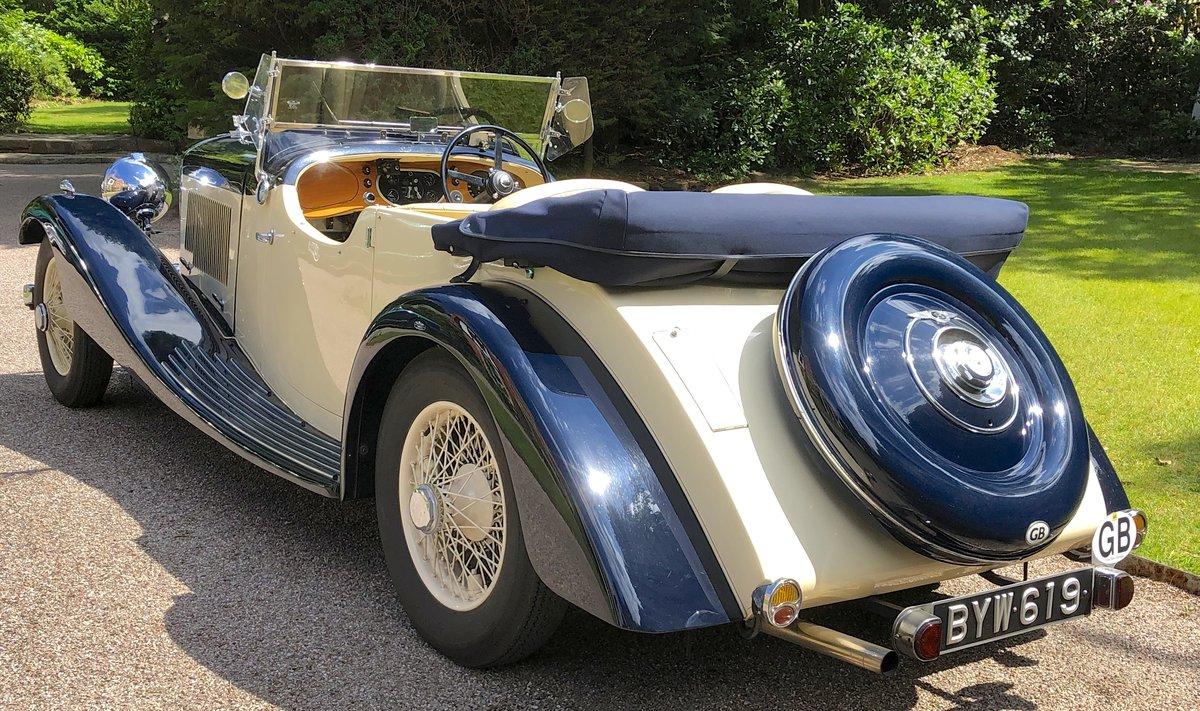 1935 BENTLEY 3 1/2 Litre Vanden Plas 4 seat tourer For Sale (picture 3 of 6)