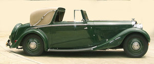 1935 Derby Bentley 3 1/2 Litre Sedanca Coupe by H.J. Mulline For Sale