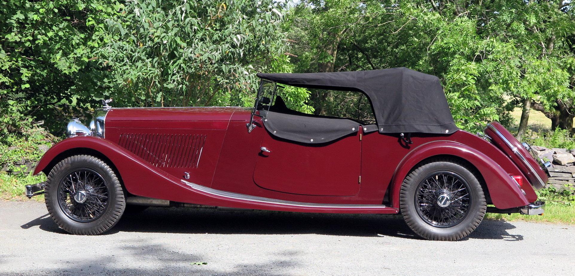 1935 Bentley 3½ Litre VdP style 'cutaway door' Tourer B179EJ For Sale (picture 4 of 6)