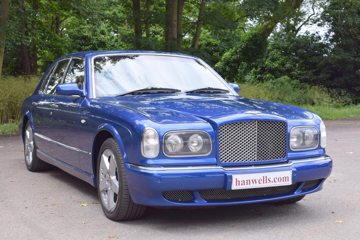2003/03 Bentley Arnage R in Moroccan Blue For Sale (picture 1 of 6)