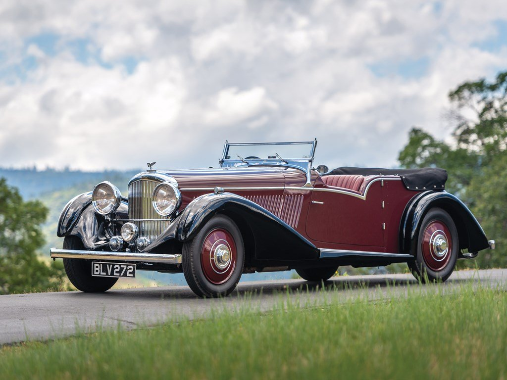 1936 Bentley 4-Litre Tourer by Vanden Plas For Sale by Auction (picture 1 of 6)