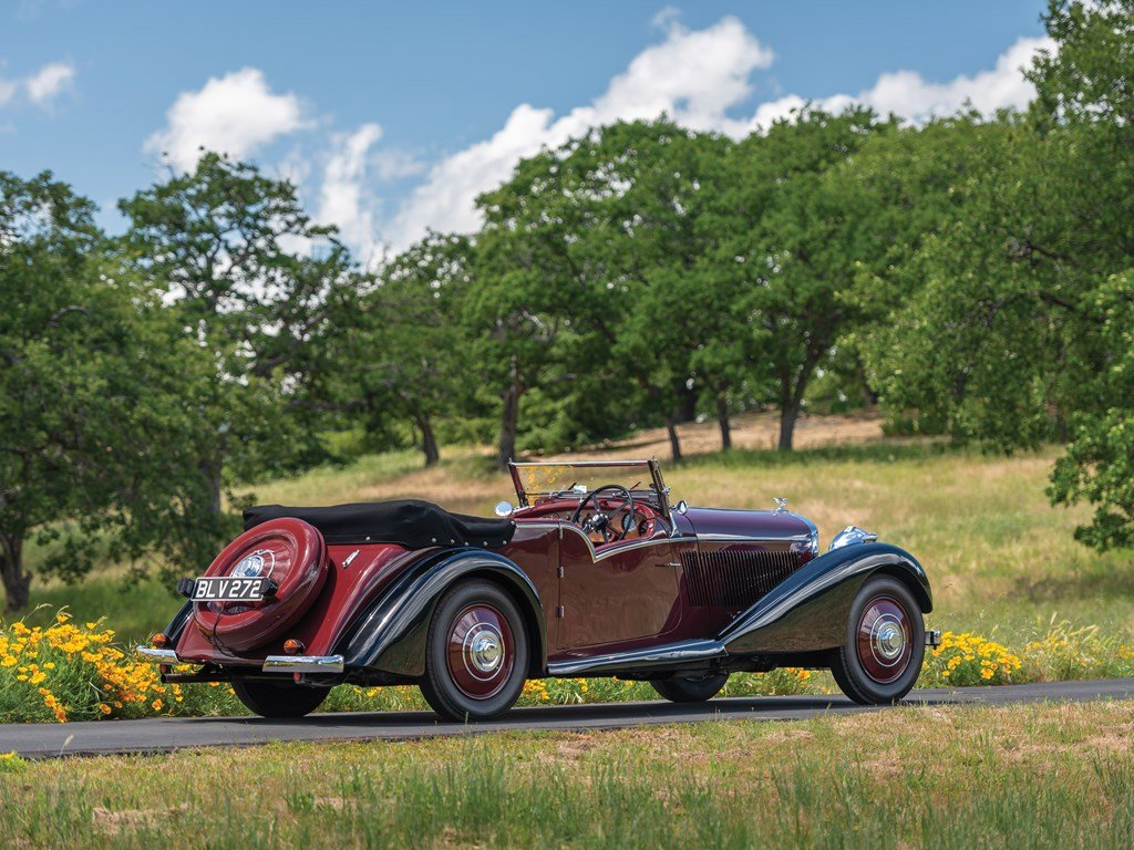 1936 Bentley 4-Litre Tourer by Vanden Plas For Sale by Auction (picture 2 of 6)