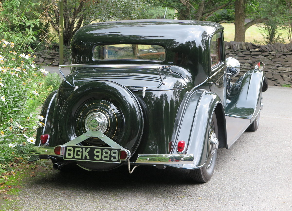 1934 Bentley 3 ½ Litre Thrupp & Maberly Sports Saloon. B9BL For Sale (picture 2 of 6)