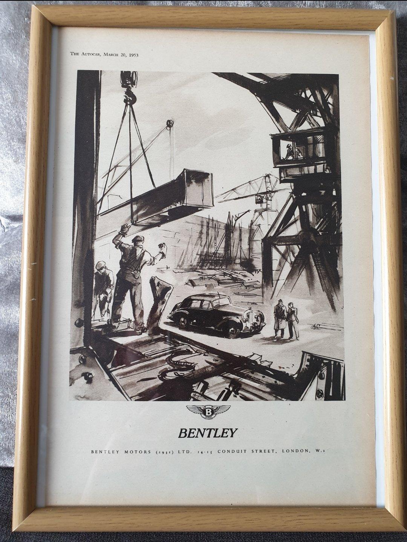 1953 Original Bentley Advert SOLD (picture 1 of 2)