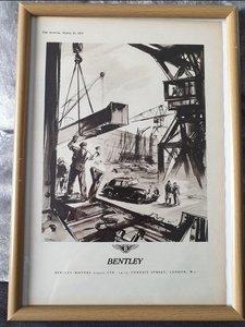 1953 Original Bentley Advert