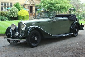 1934 Derby Bentley 3 ½ Litre Hooper Bodied Drophead Coupe For Sale