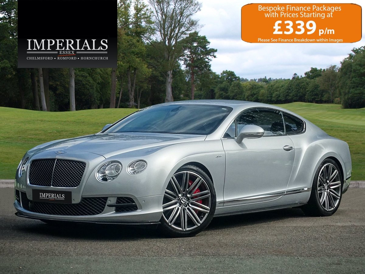 2016 Bentley  CONTINENTAL GT  SPEED COUPE AUTO  74,948 For Sale (picture 1 of 24)