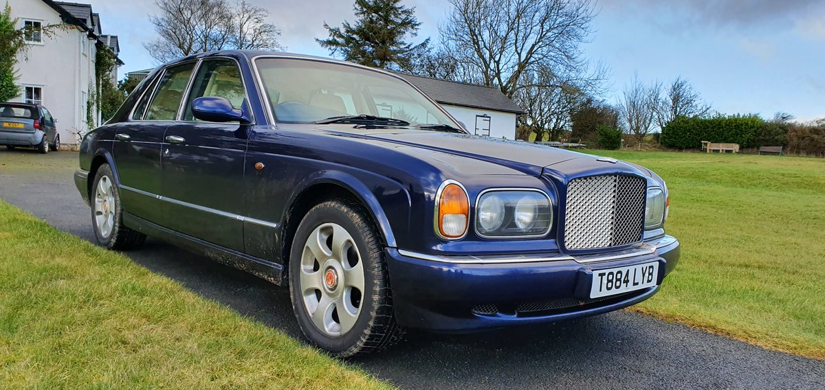 1999 T reg Bentley Arnage 4.4 V8 Auto 78k fsh Peacock Blue SOLD (picture 1 of 6)