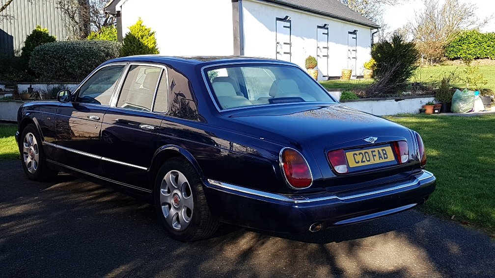 1999 T reg Bentley Arnage 4.4 V8 Auto 78k fsh Peacock Blue SOLD (picture 5 of 6)