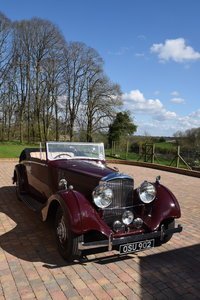 1938 Derby Bentley 4.25 MR Overdrive series Hooper DHC For Sale